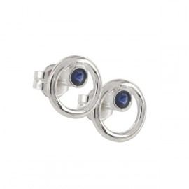 EARRINGS SILVER AND SAPPHIRE