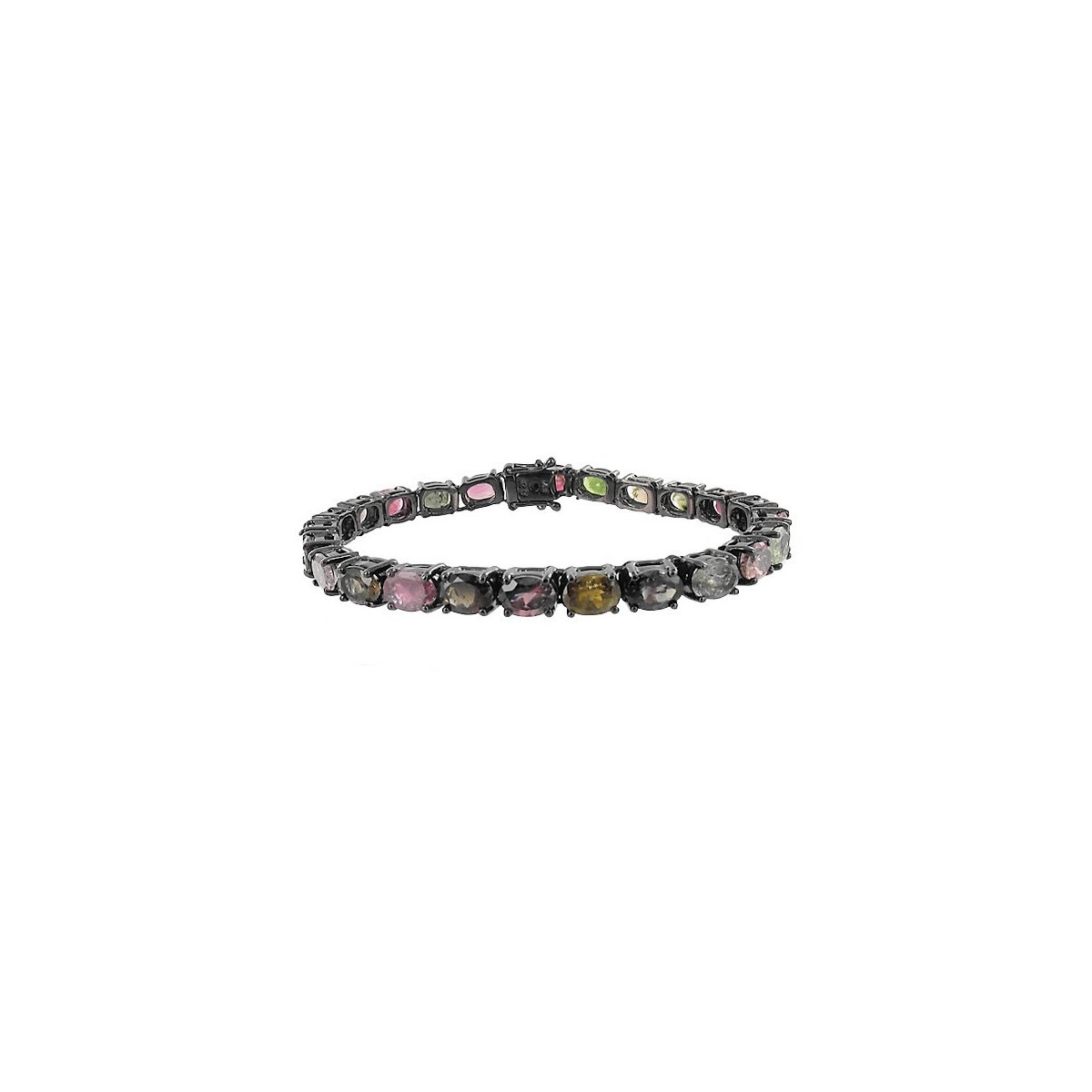 BRACELET SIAM SILVER AND TOURMALINES