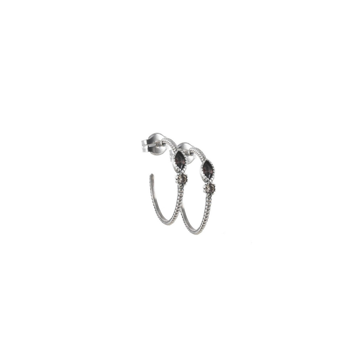 SILVER EARRINGS WITH STONES