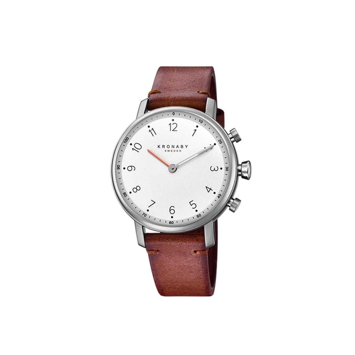 KRONABY NORD SILVER BROWN STRAP