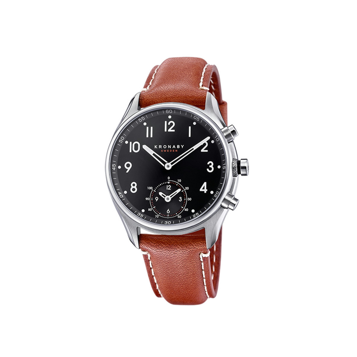 KRONABY APEX BLACK BROWN STRAP