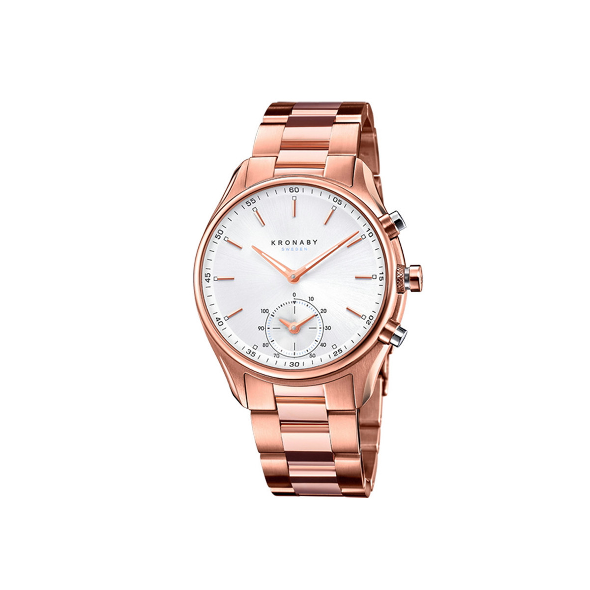 KRONABY SEKEL SMALL SECOND PVD PINK
