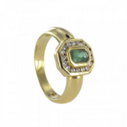 GOLD DIAMONDS AND EMERALD RING