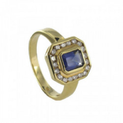 GOLD SAPPHIRE AND DIAMONDS RING