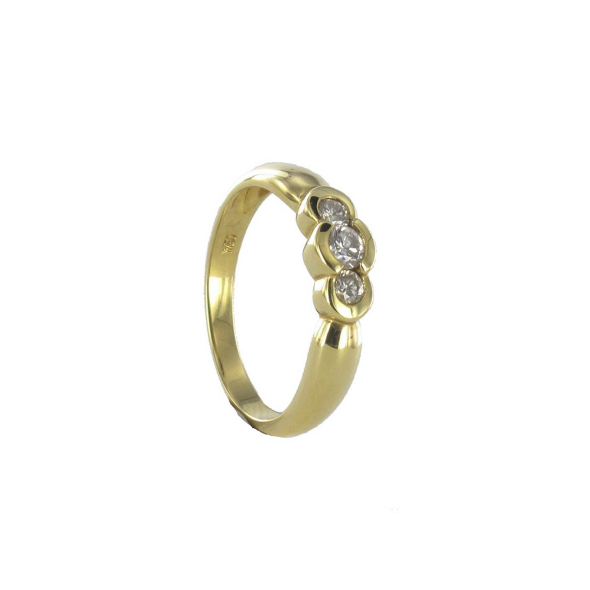 ANILLO ORO AMARILLO 3 DIAMANTES