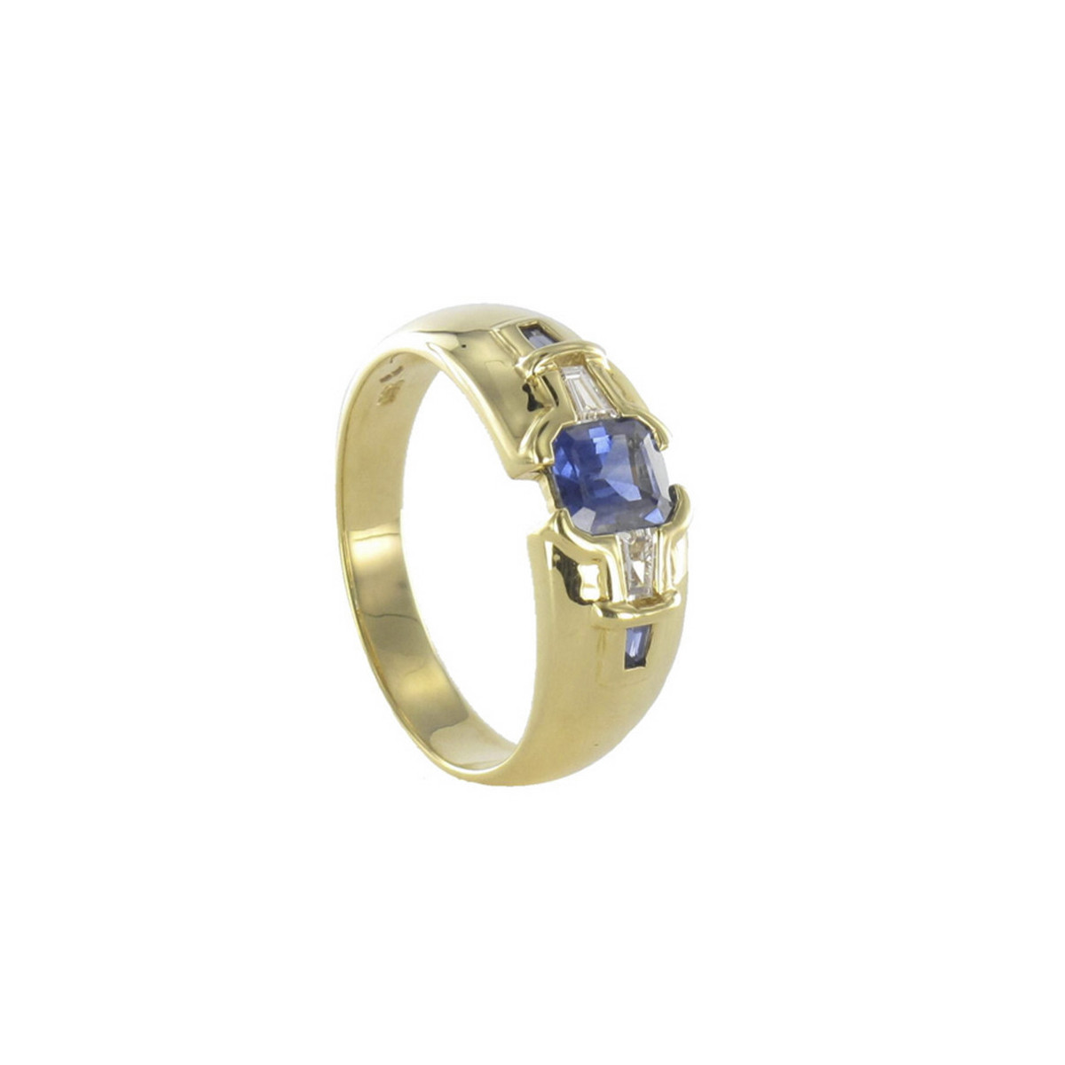 GOLD RING WITH PRECIOUS STONES