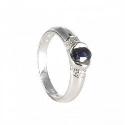 WHITE GOLD RING WITH SAPPHIRE 0.66 KTES