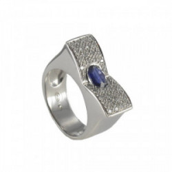 GOLD DIAMONDS AND SAPPHIRE RING