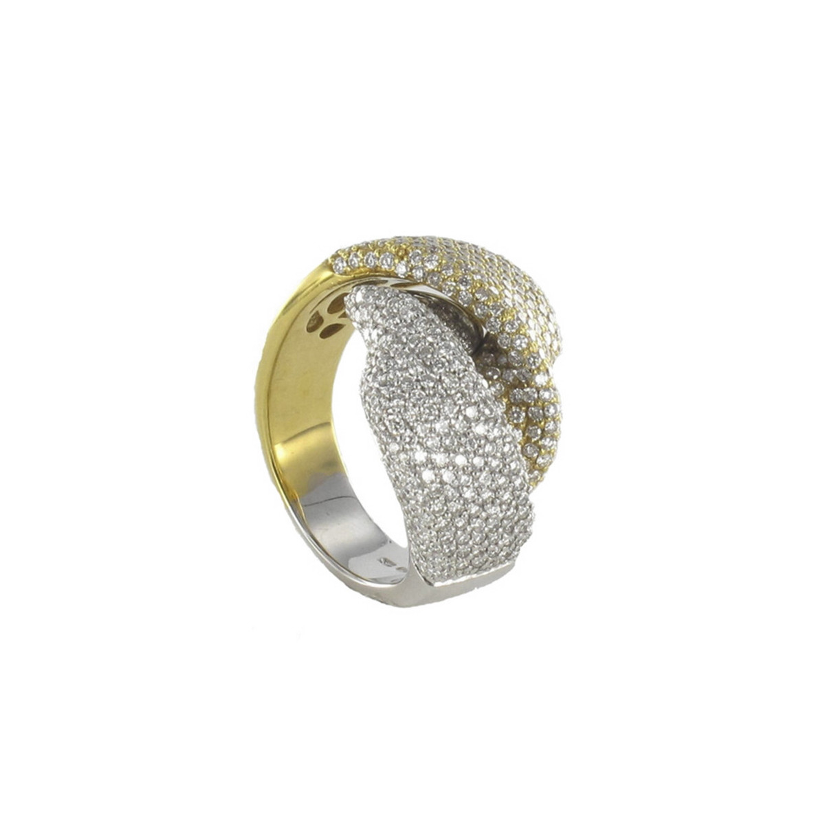 GOLD AND DIAMOND RING 2,18 KTES