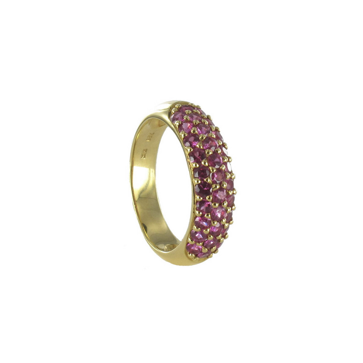 GOLD AND PINK SAPPHIRES RING