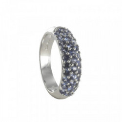 GOLD RING WITH LIGHT BLUE SAPPHIRES