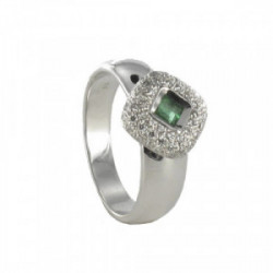18K GOLD RING WITH EMERALD 0.19 KTES