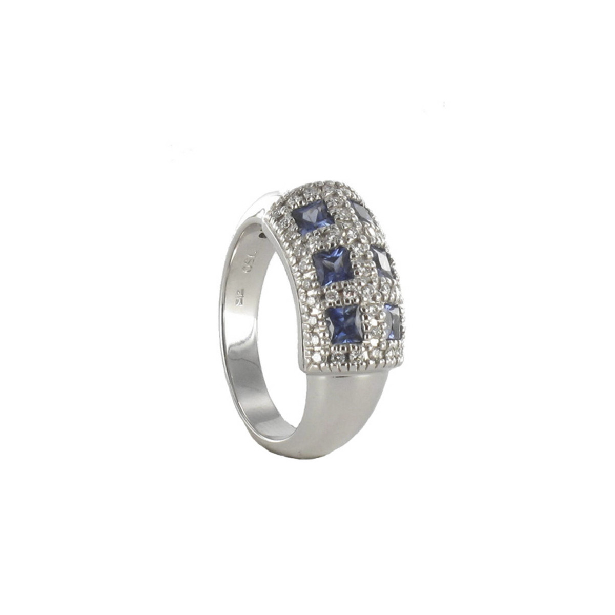 WHITE GOLD RING WITH 6 SAPPHIRES 0.90 CARATS