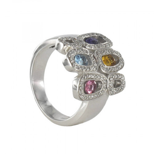 GOLD STONES GOLD AND DIAMONDS RING