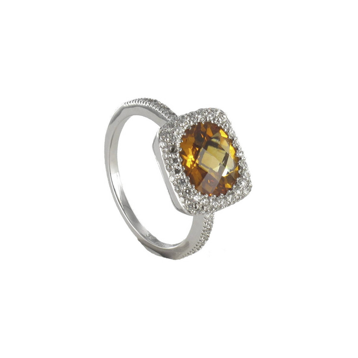 ANILLO ORO CITRINO Y 70 DIAMANTES