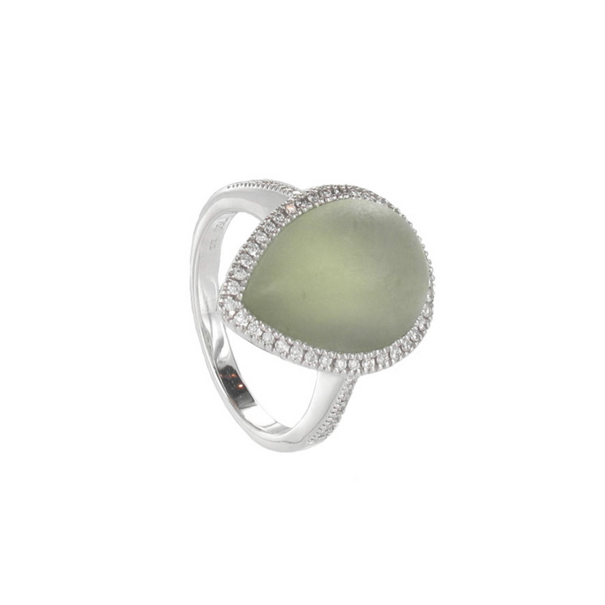SPIRITE AND DIAMONDS WHITE GOLD RING
