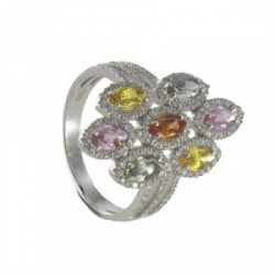 GOLD SAPPHIIRES AND DIAMONDS RING