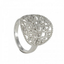 ANELL OR BLANC AMB 208 DIAMANTS