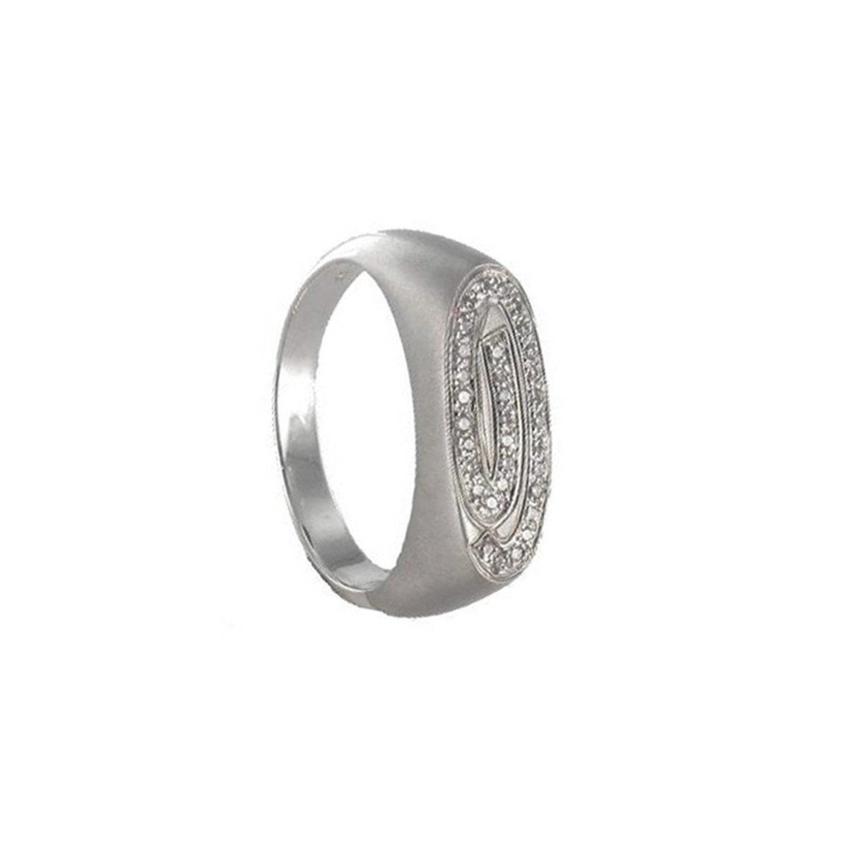 ANELL OR MAT AMB 33 DIAMANTS