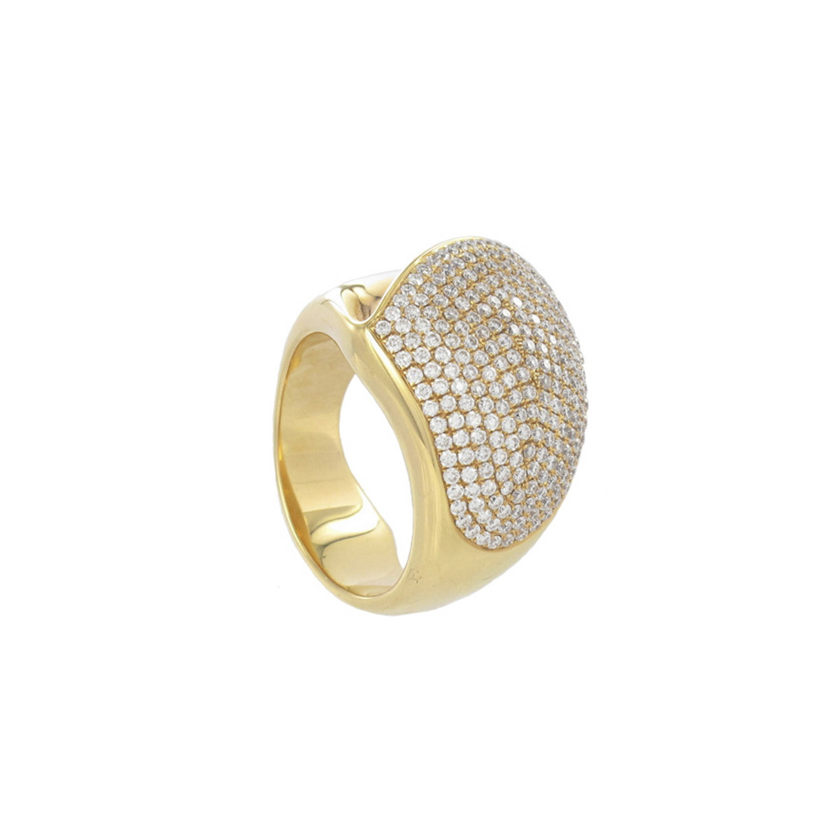 WIDE RING WITH DIAMONDS