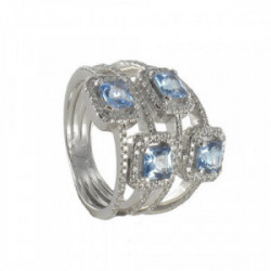 GOLD TOPAZ AND DIAMONDS RING