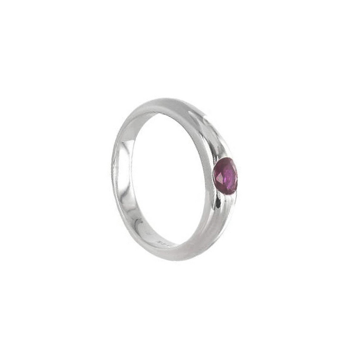 WHITE GOLD RING RUBY 0.36 KTES