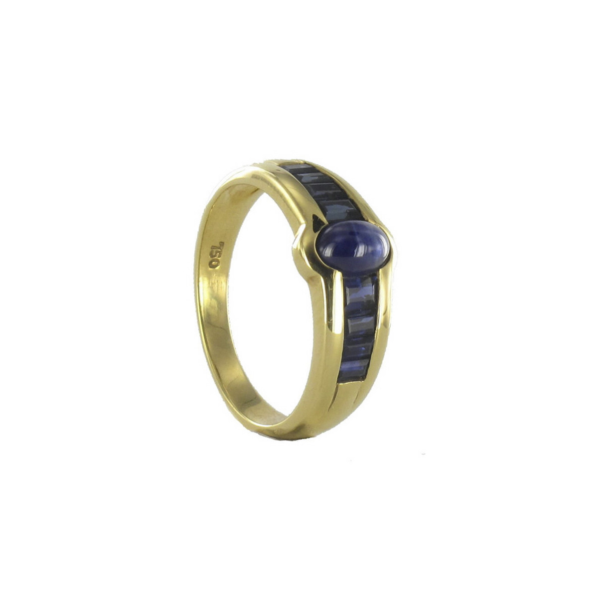 GOLD AND SAPPHIRES RING