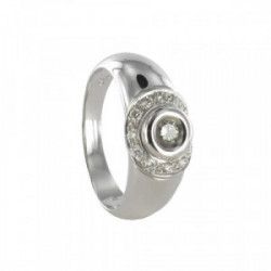 ANELL OR BLANC DIAMANTS 0,26 KTES