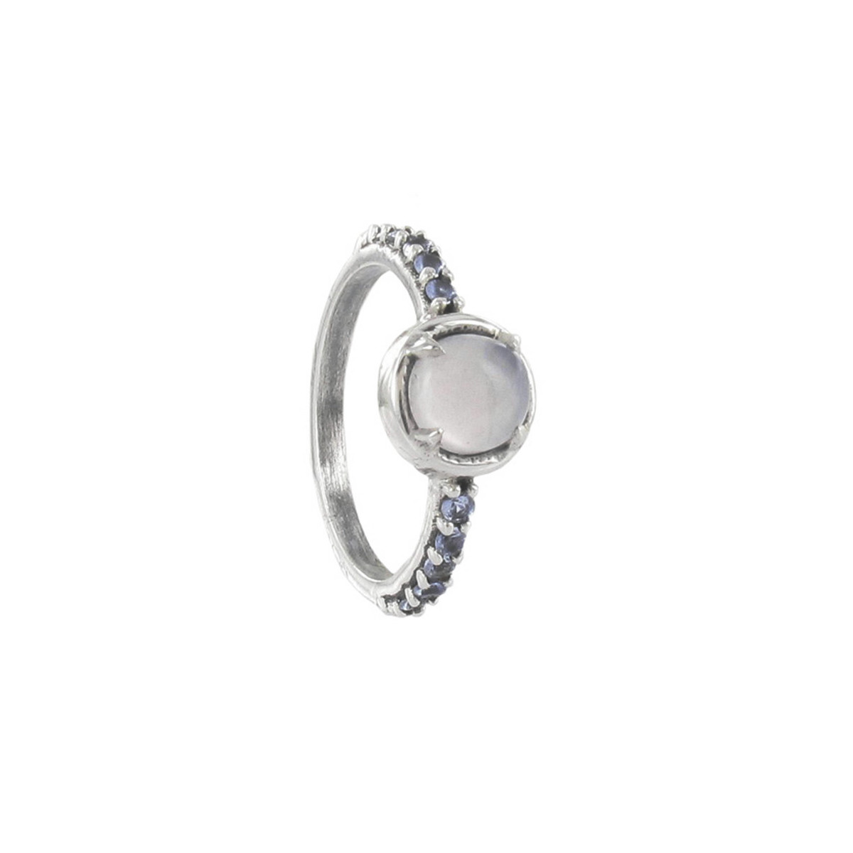 SILVER RING AND BLUE NATURAL STONES