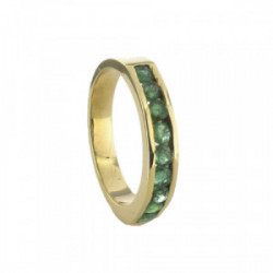 YELLOW GOLD RING WITH EMERALDS