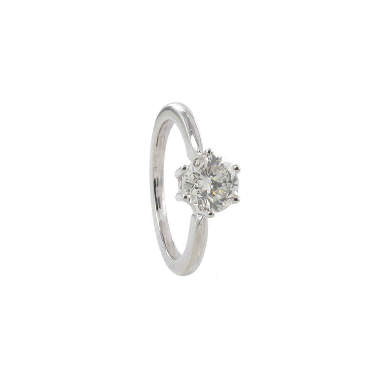 GOLD DIAMOND SOLITAIRE WITH 6 CLAWS