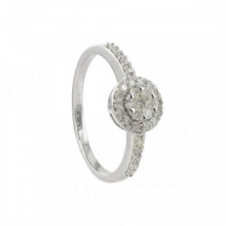 ANELL OR BLANC I 29 DIAMANTS