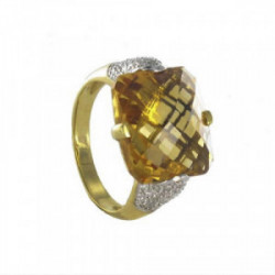 HONEY COLOR NATURAL STONE RING