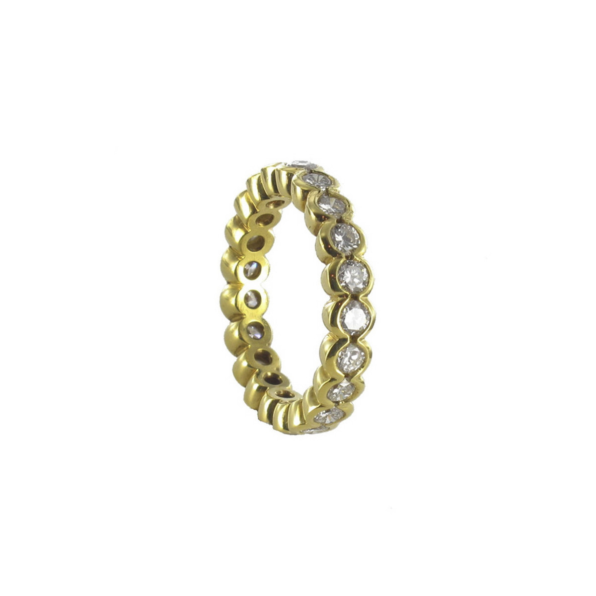 RING YELLOW GOLD DIAMONDS BRILLIANT SIZE