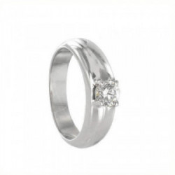 SOLITAIRE RING WHITE GOLD WITH DIAMOND