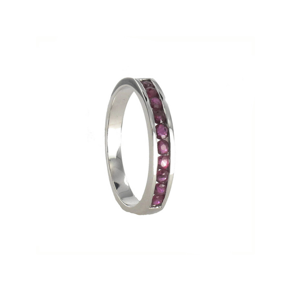 HALF RING 18K GOLD WITH RUBIES