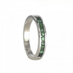 HALF RING 18 KT GOLD WITH EMERALDS