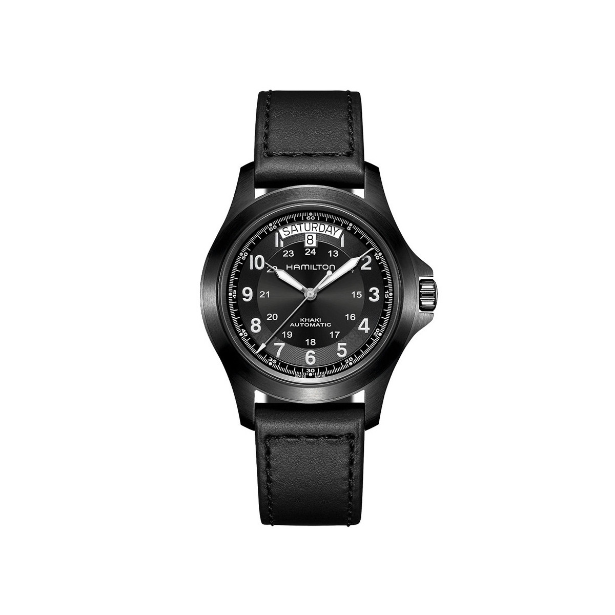 HAMILTON KHAKI ALL BLACK WATCH