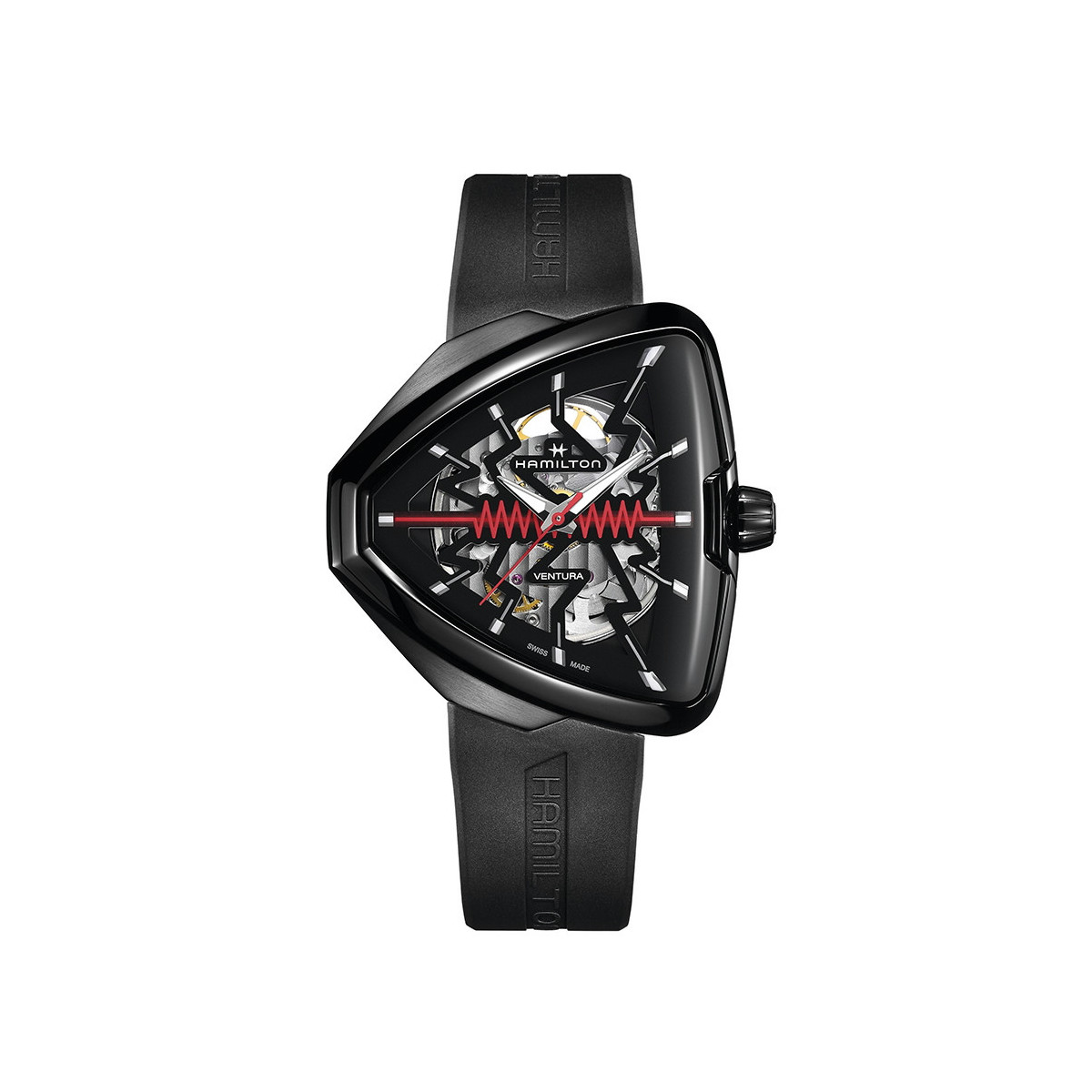 HAMILTON VENTURA ELVIS80 SKELETON BLACK