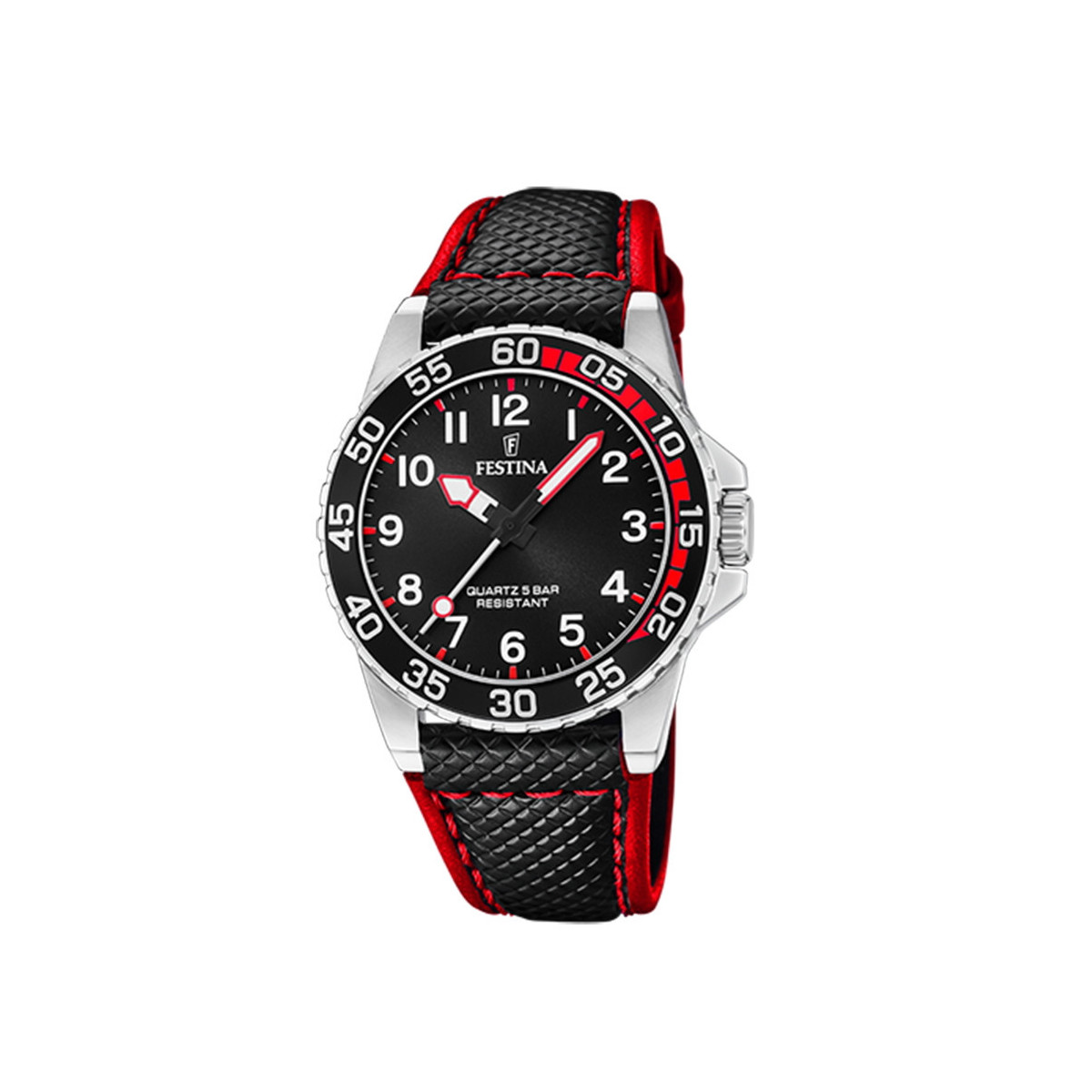 FESTINA 36 MM BLACK AND RED