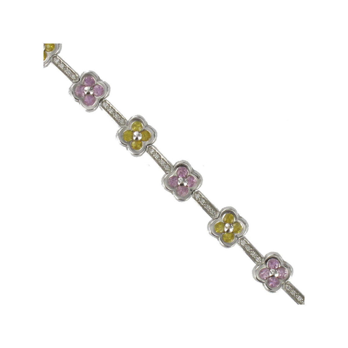 GOLD SAPPHIRS AND DIAMONDS BRACELET