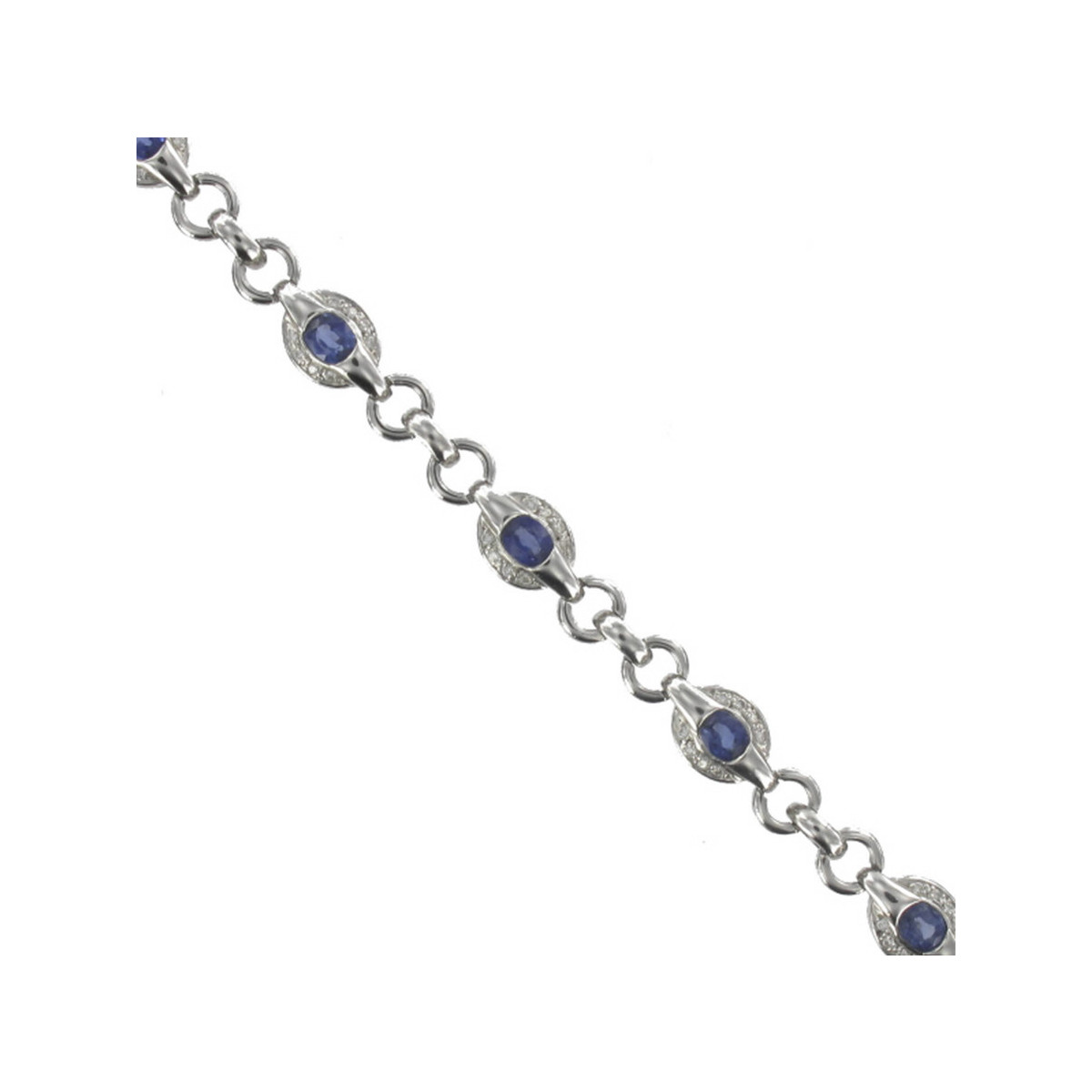 GOLD SAPPHIRE AND DIAMONDS BRAZALET