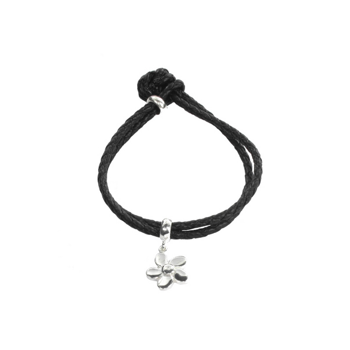 LEATHER BRACELET WITH SILVER