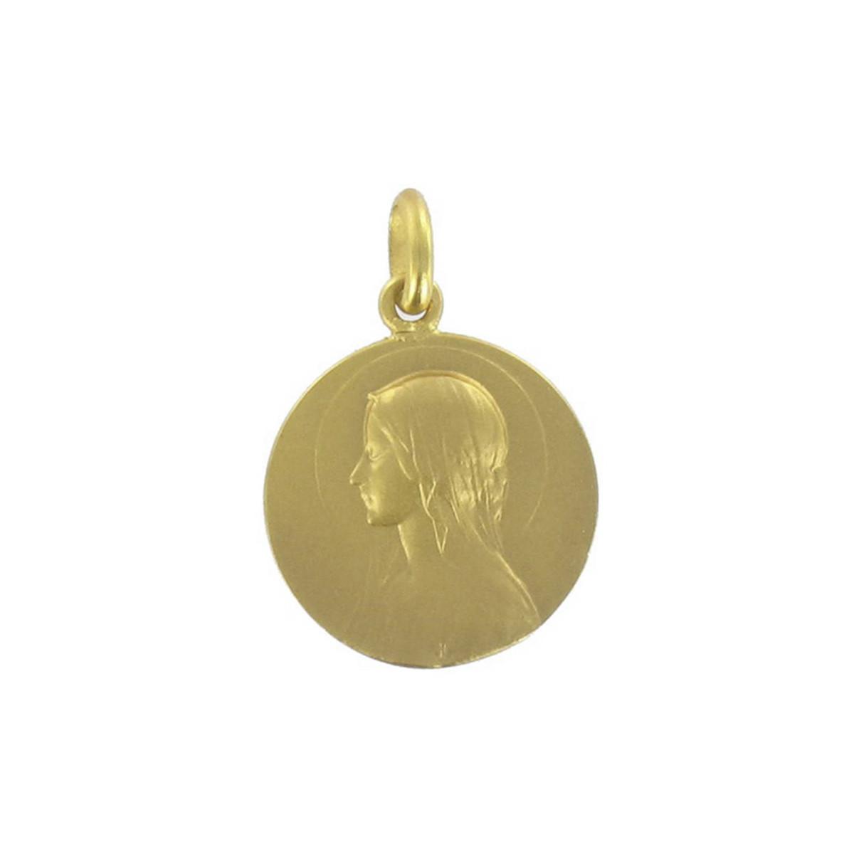 GOLD SCAPULAR AVE VELO / JESUS 18 MM