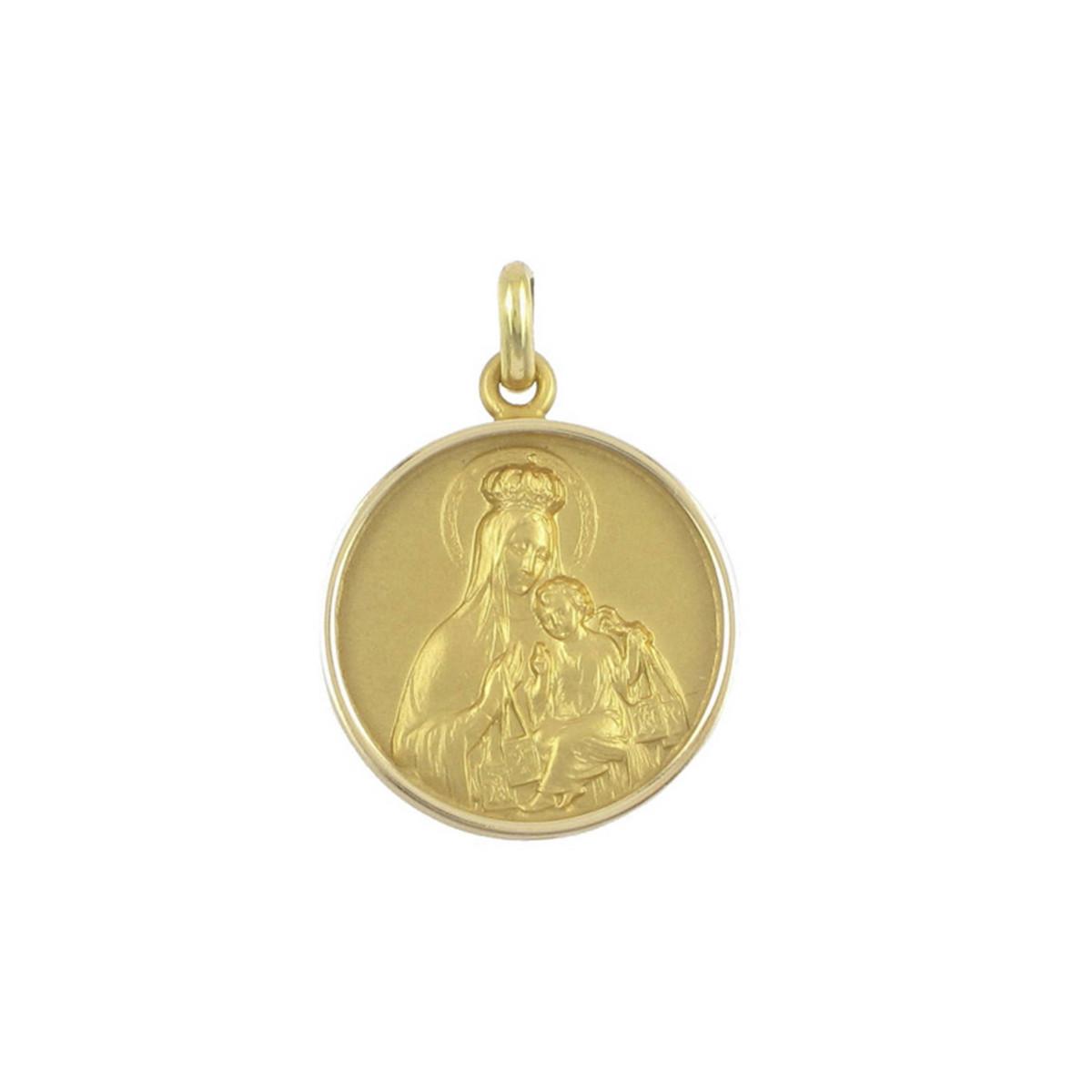 GOLD BEVEL SCAPULAR 21 MM