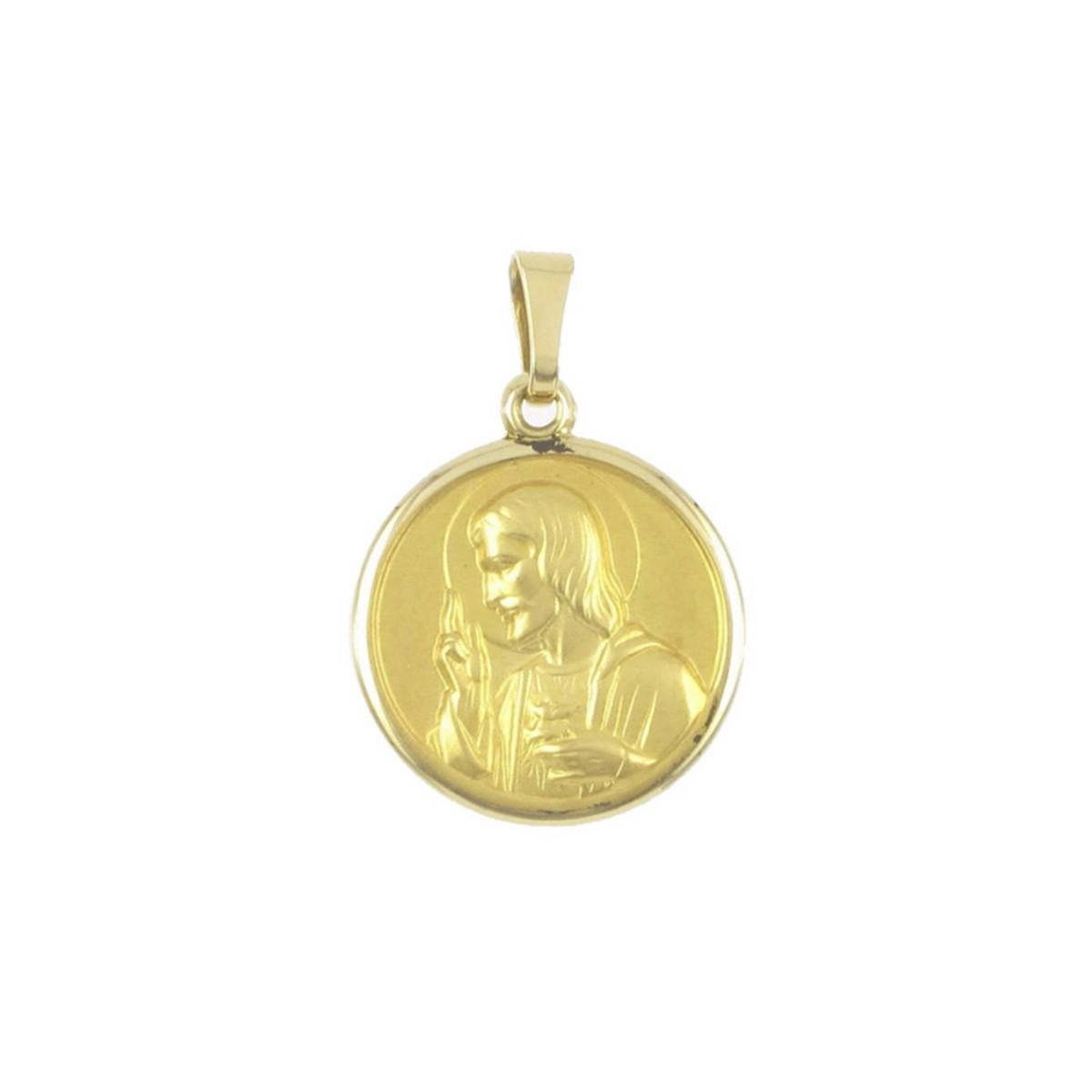 GOLD BEVEL SCAPULAR 20 MM
