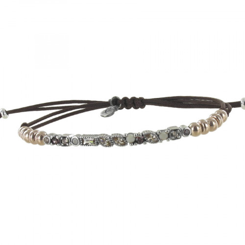 STERLING SILVER AND STONES BRACELET