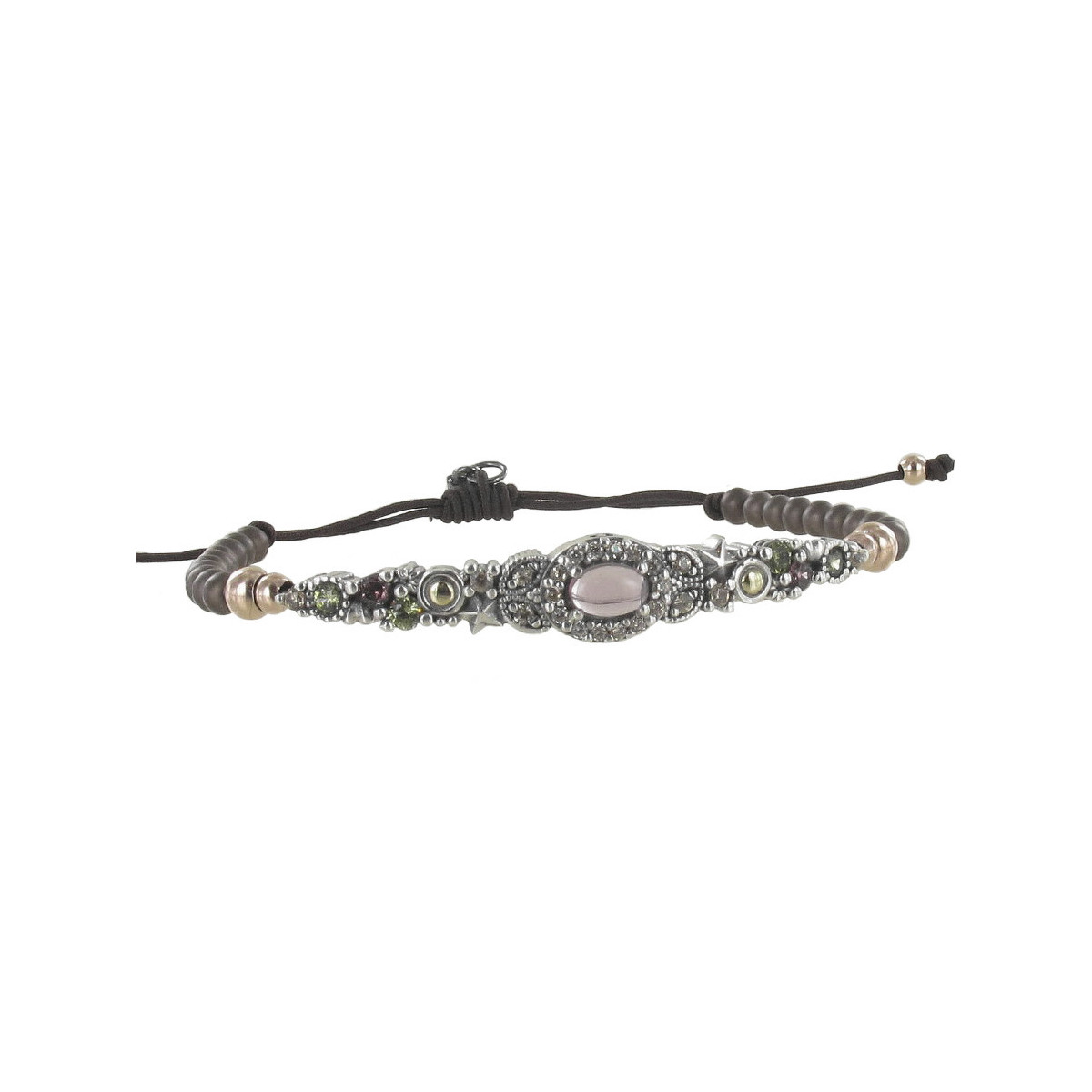 BRACELET WITH COLORED NATURAL STONES