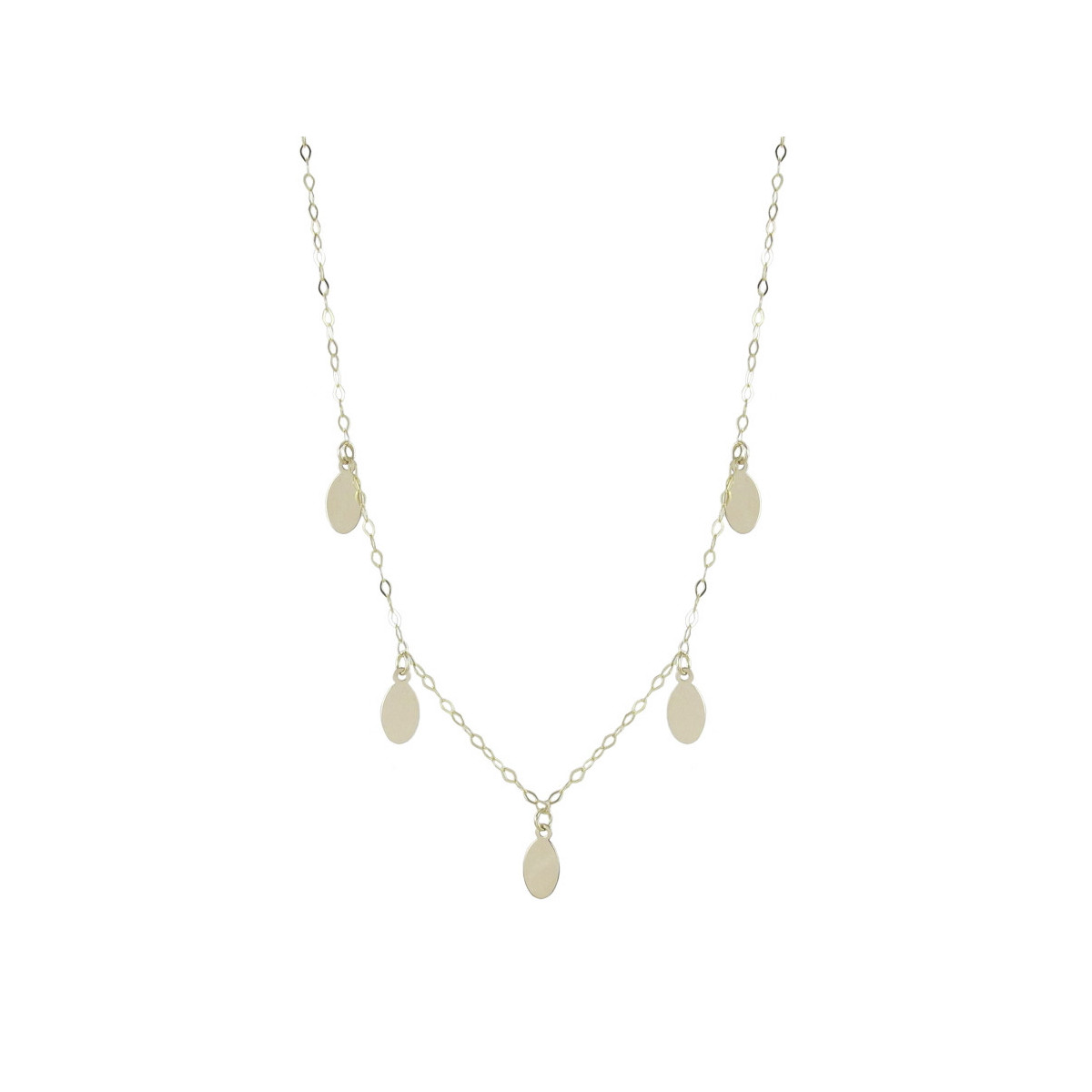 YELLOW GOLD NECKLACE 5 PENDANTS
