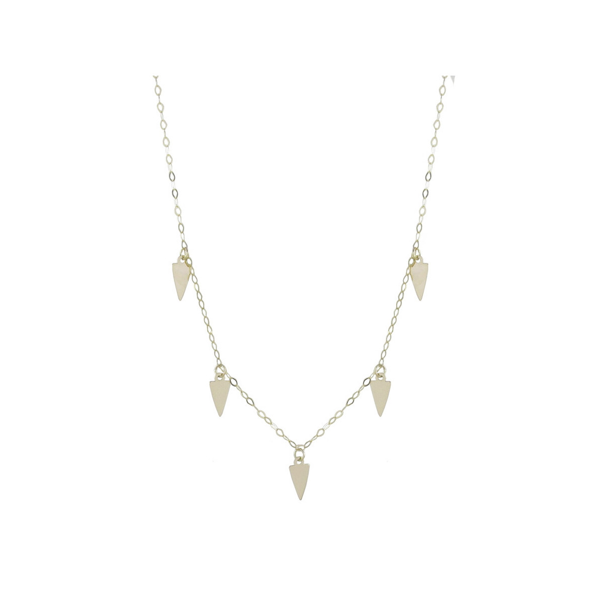 YELLOW GOLD NECKLACE 40 CM